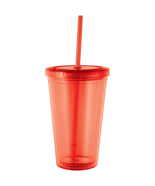 Double Wall Tumbler with Lid and Straw