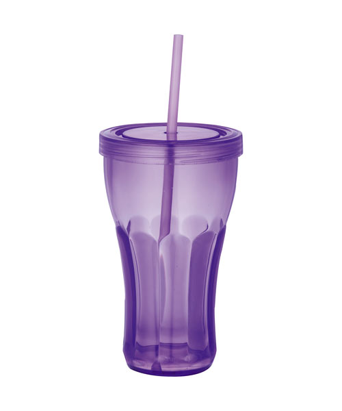 Soda Fountain 16-oz. Tumbler with Straw