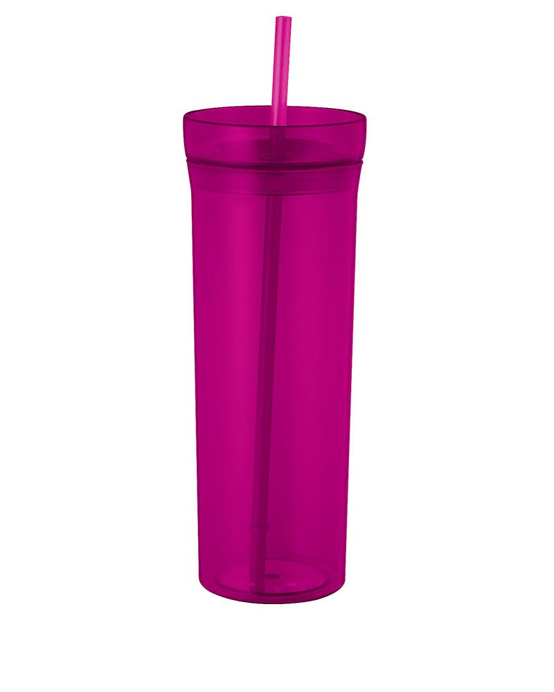 22-oz. Translucent Tumbler with Straw