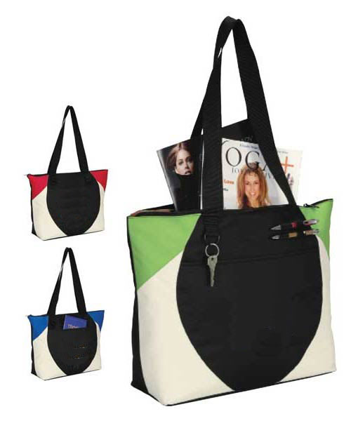 Colorblock Retro Tote Bag