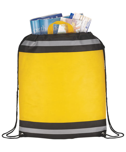 Reflective Stripe Drawstring Backpack