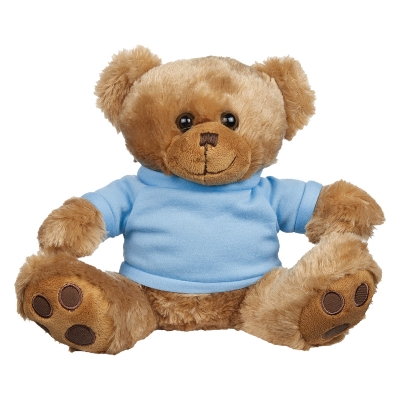 Printed Plush Big Paw Brown Bear With Tee