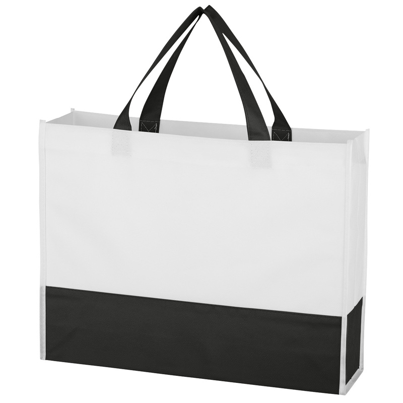 Printed Non-Woven Prism Tote Bag