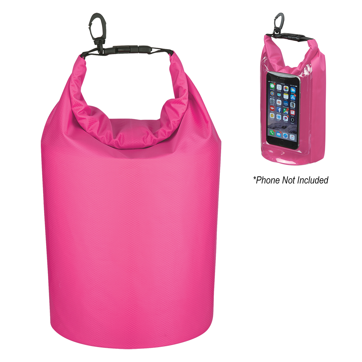 Printed Waterproof Dry Bag With Window