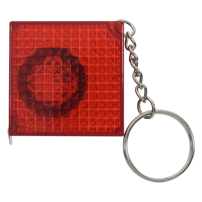Reflective Tape Measure Key Chain