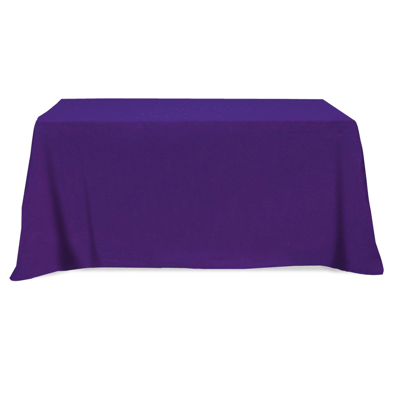Printed Flat Poly/Cotton 4-Sided Table Cover