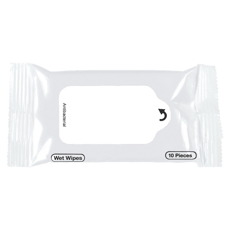 Printed Antibacterial Wet Wipe Packet