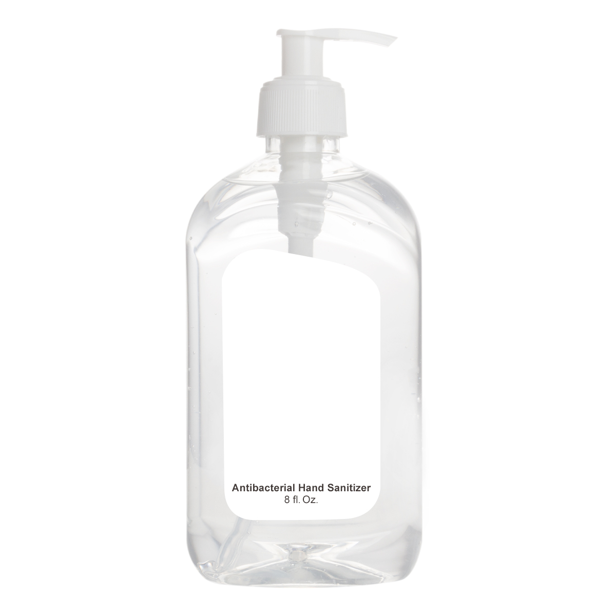 Printed 8 Oz. Hand Sanitizer Pump Bottle