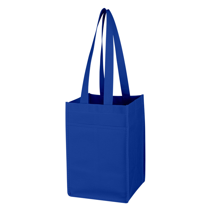 Printed Non-Woven 4 Bottle Wine Tote Bag