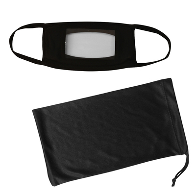 Anti-Fog Window Mask & Mask Pouch With Antimicrobial Additive
