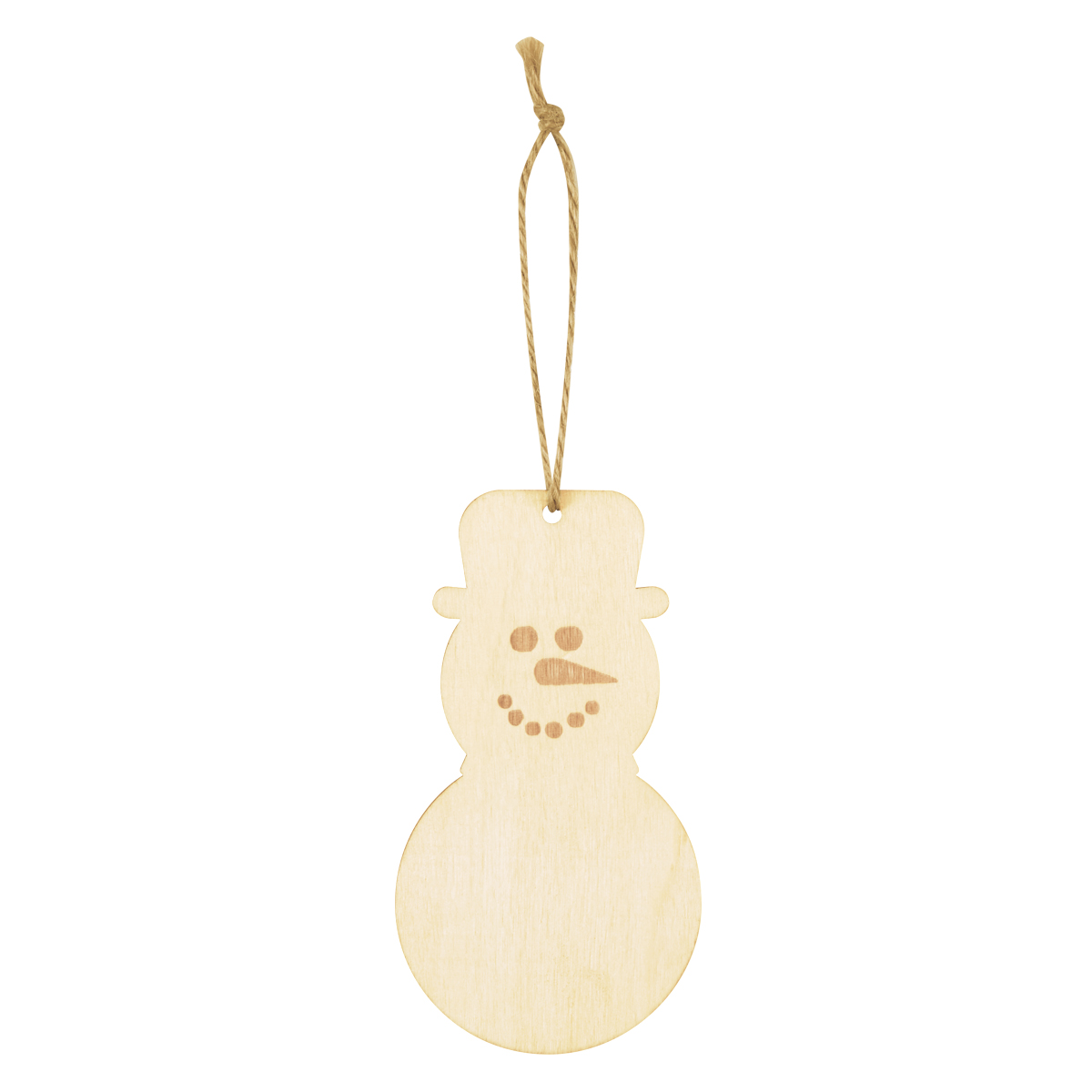 Wood Ornament - Snowman