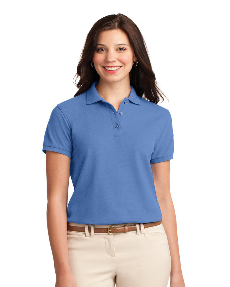 Port Authority Printed Women's Silk Touch Pique Polo