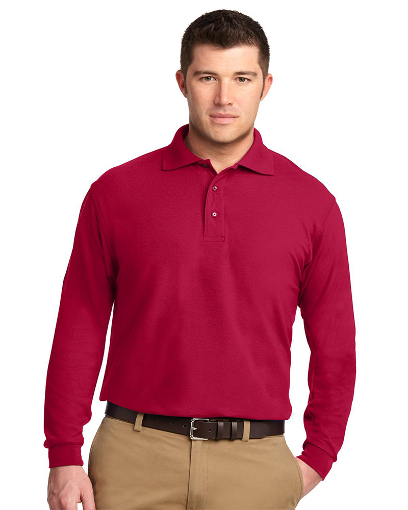 Port Authority Embroidered Long Sleeve Silk Touch Sport Shirt