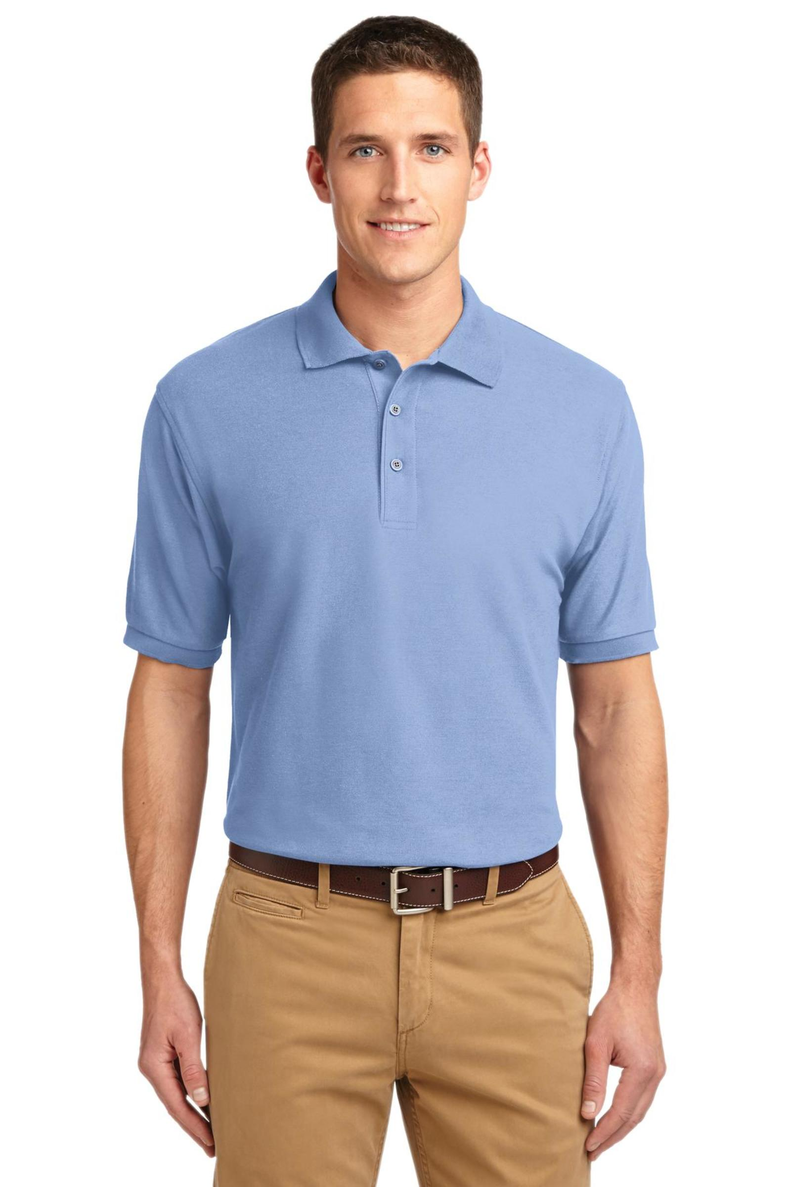 Port Authority Embroidered Men's Silk Touch Pique Polo