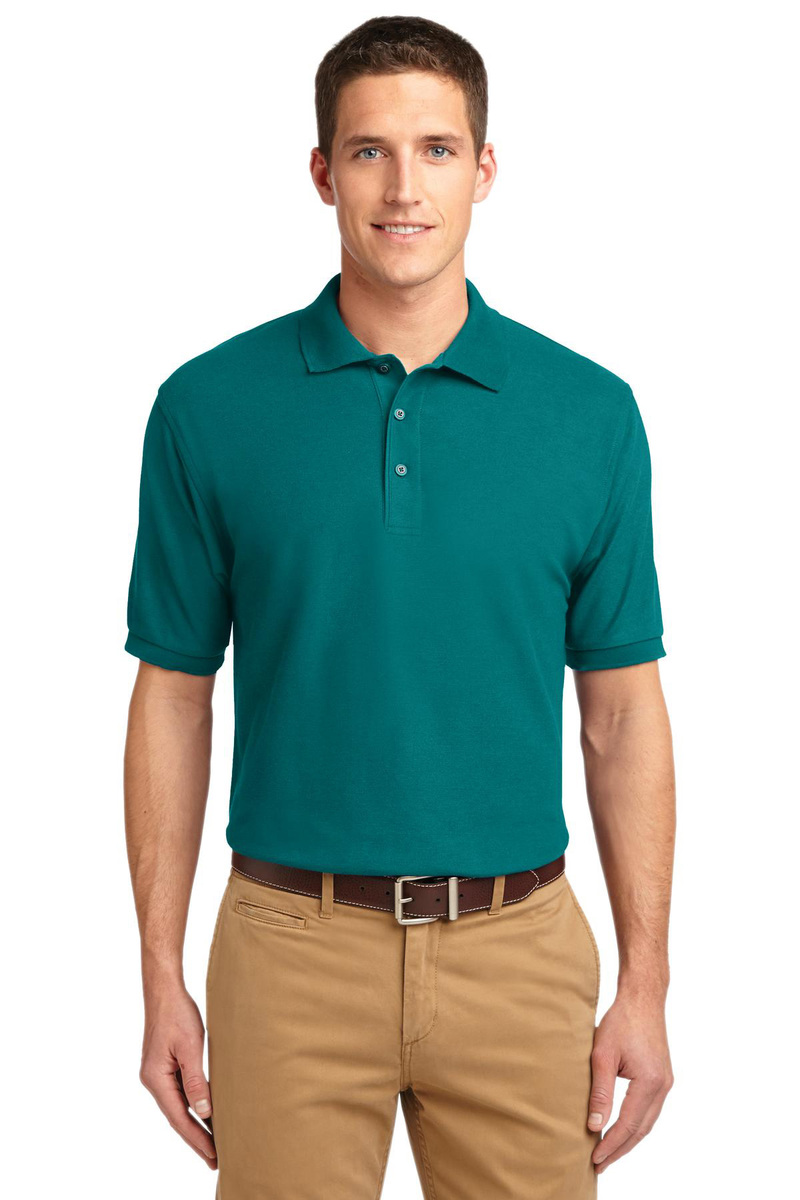 Port Authority Printed Men's Silk Touch Pique Polo