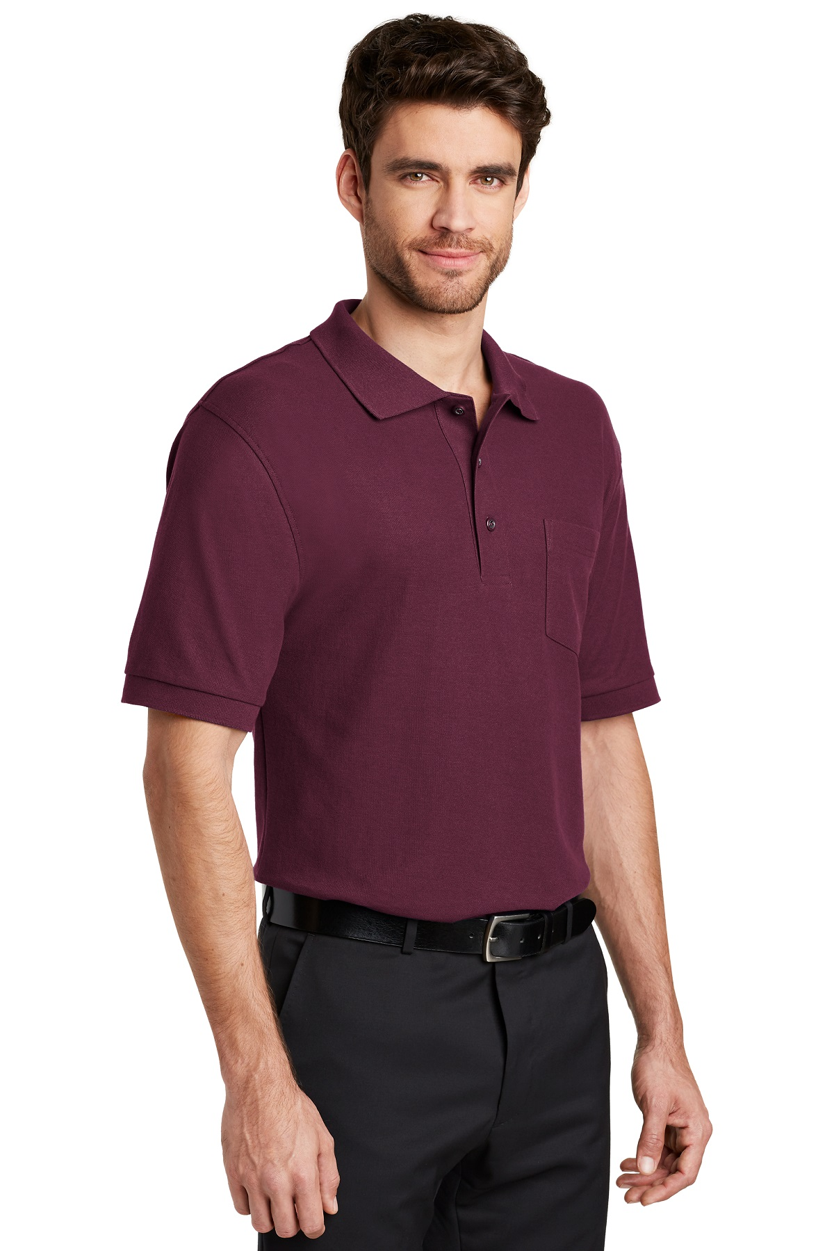 Port Authority Embroidered Men's Silk Touch Pocket Polo