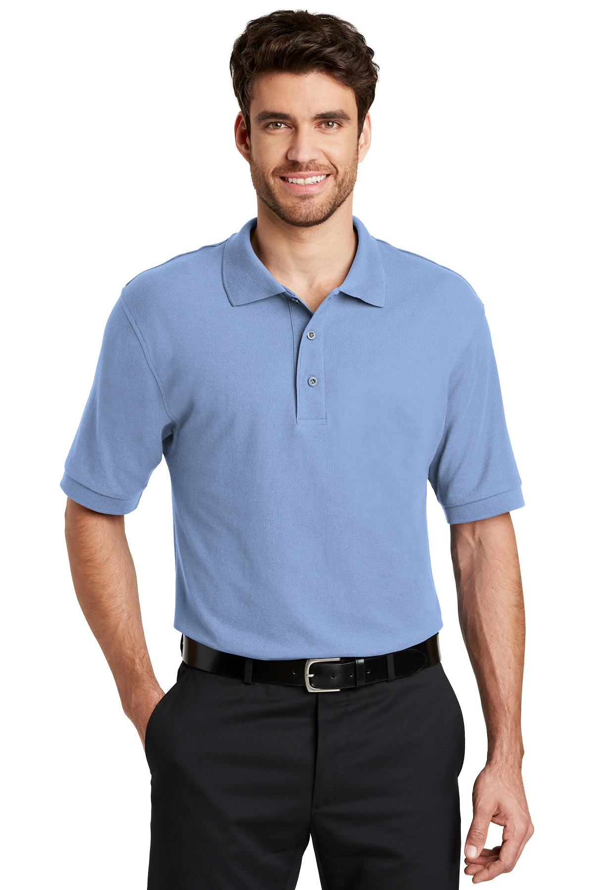 Port Authority Embroidered Men's TALL Silk Touch Polo