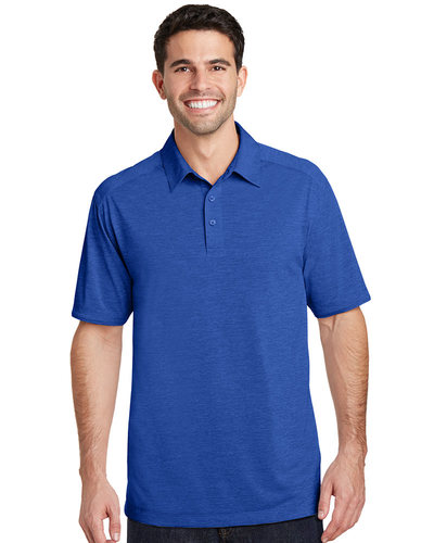 Port Authority Printed Men's Digi-Heather Performance Polo