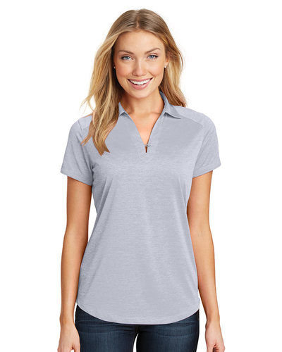 Port Authority Embroidered Women's Digi Heather Performance Polo