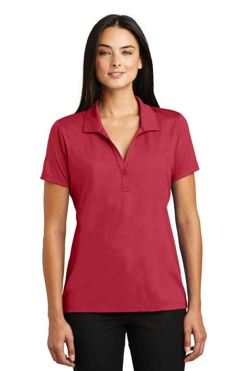 Sport-Tek Embroidered Women's Embossed PosiCharge Tough Polo