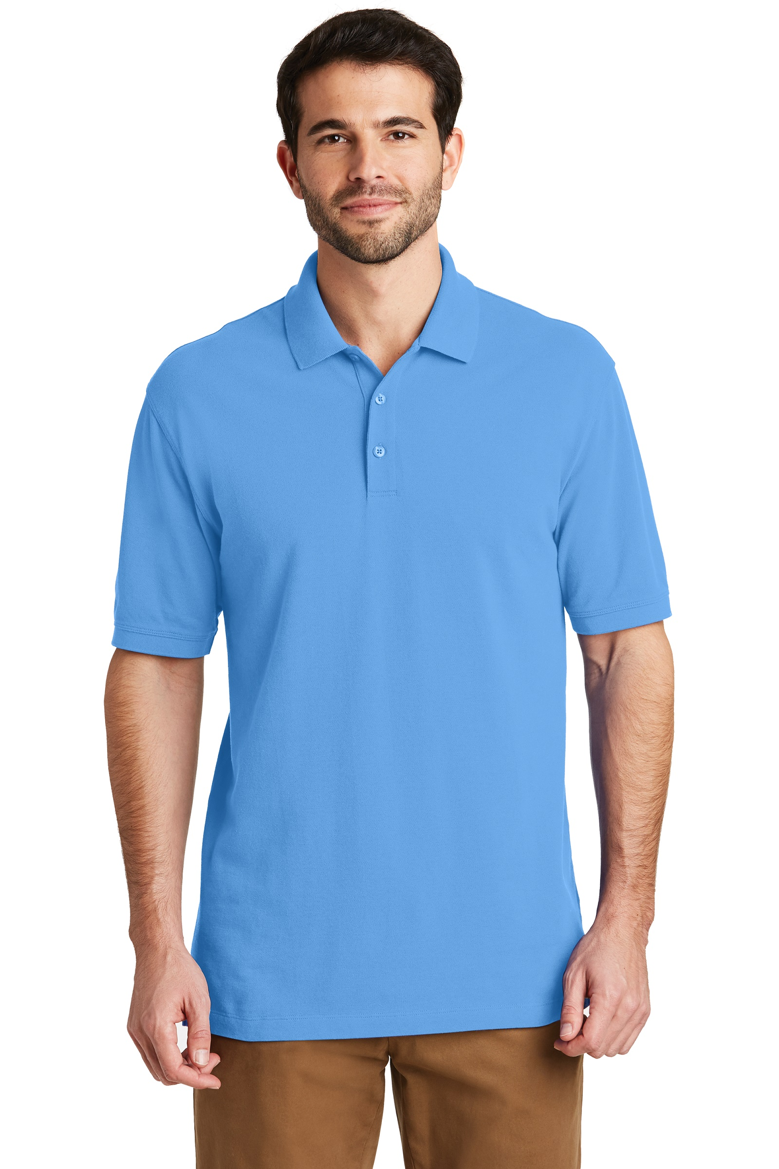 Port Authority Embroidered Men's EZCotton Pique Polo