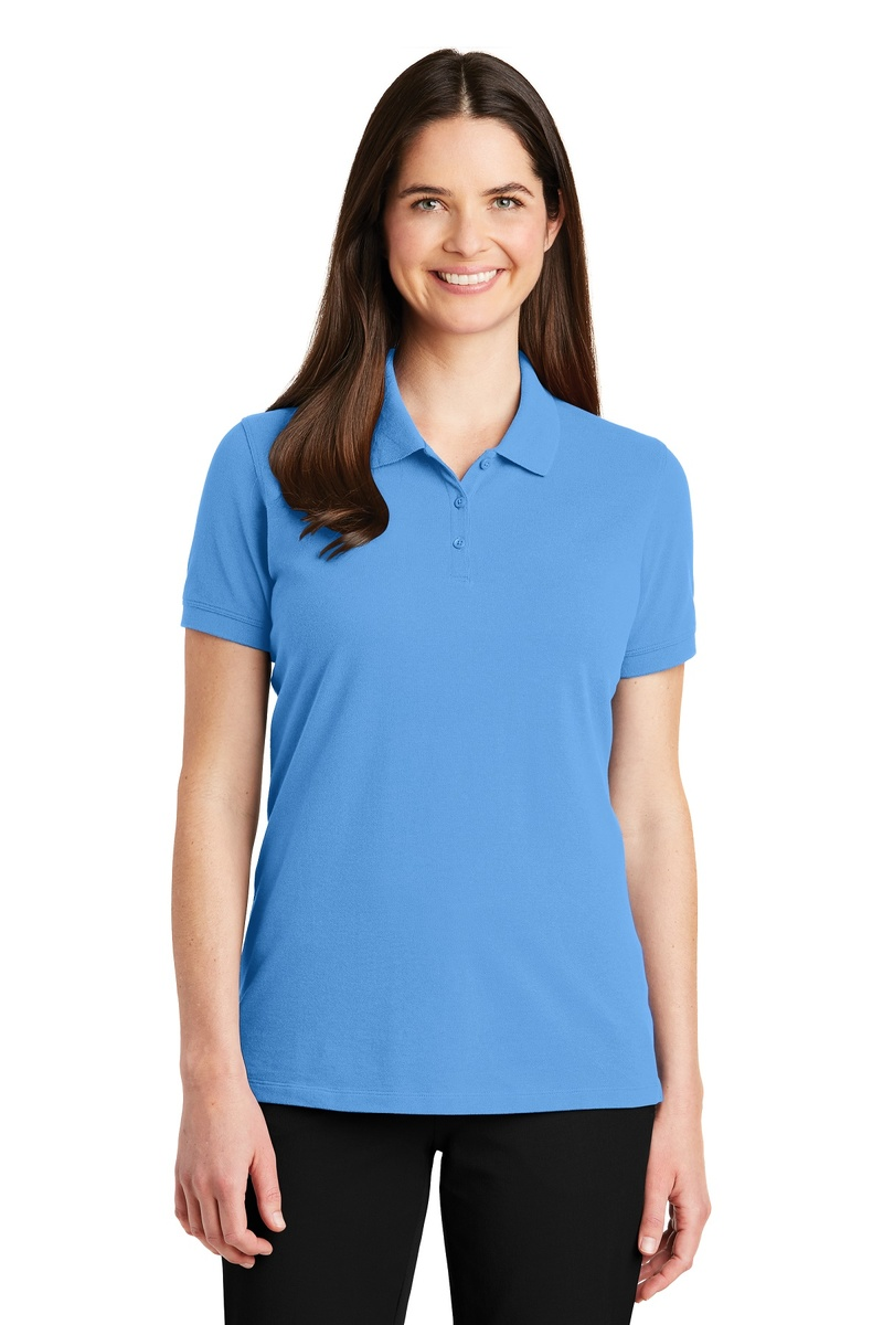 Port Authority Embroidered Women's EZCotton Pique Polo