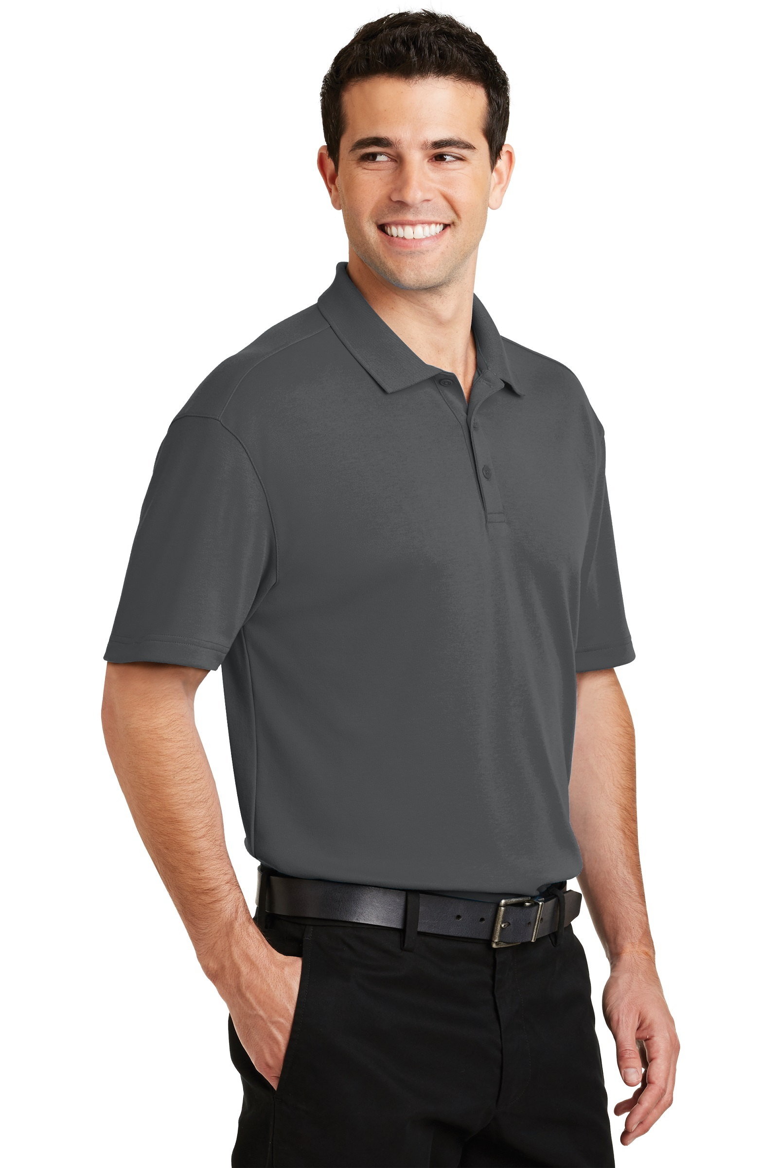 Port Authority Embroidered Men's Silk Touch Interlock Performance Polo