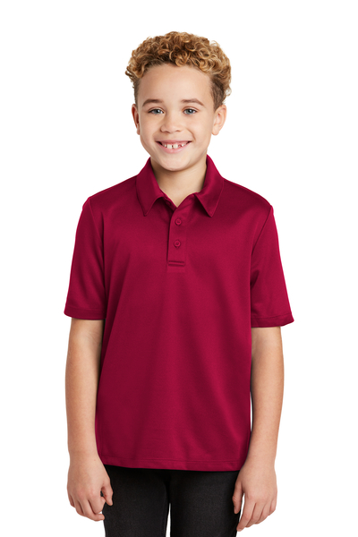 Port Authority Embroidered Youth Silk Touch Performance Polo