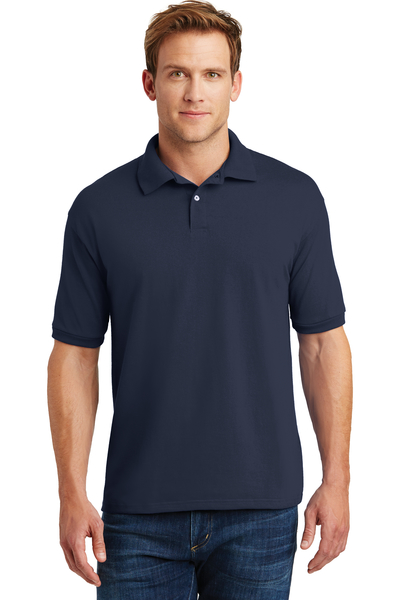 Hanes Ecosmart Embroidered Men's Jersey Knit Sport Shirt