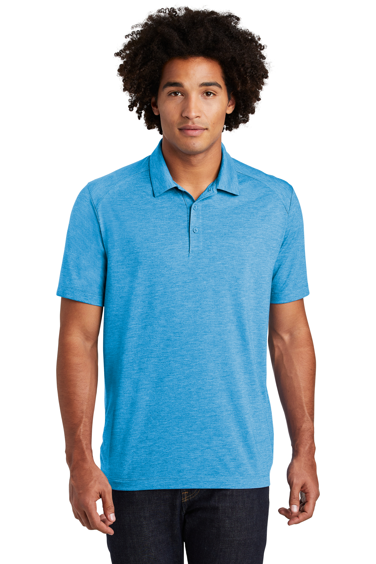 Sport-Tek Embroidered Men's PosiCharge Tri-Blend Wicking Polo