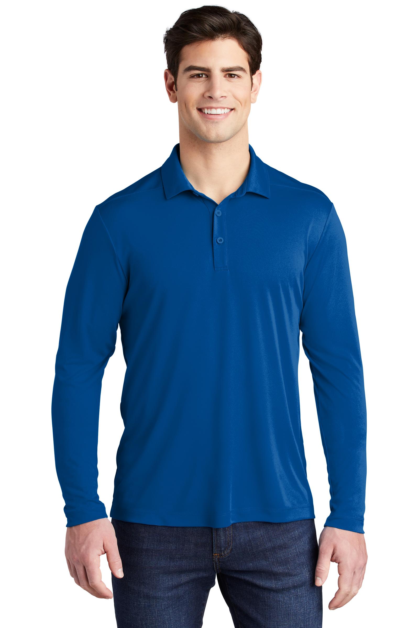 Sport-Tek Embroidered Men's Posi-UV Pro Long Sleeve Polo