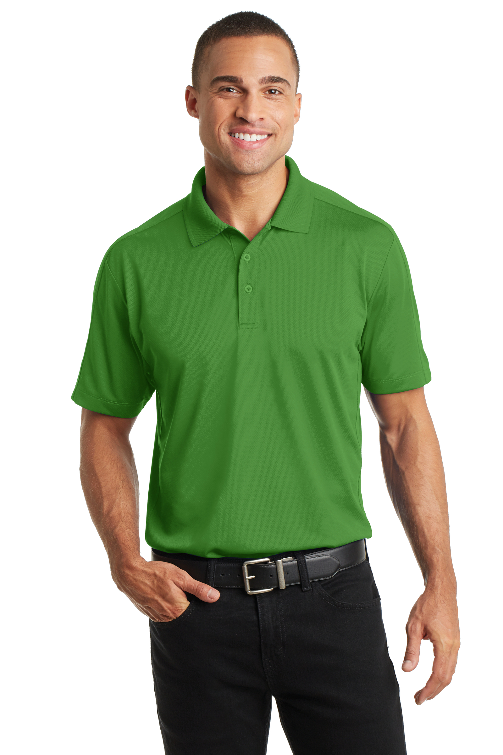 Port Authority Embroidered Men's Diamond Jacquard Polo