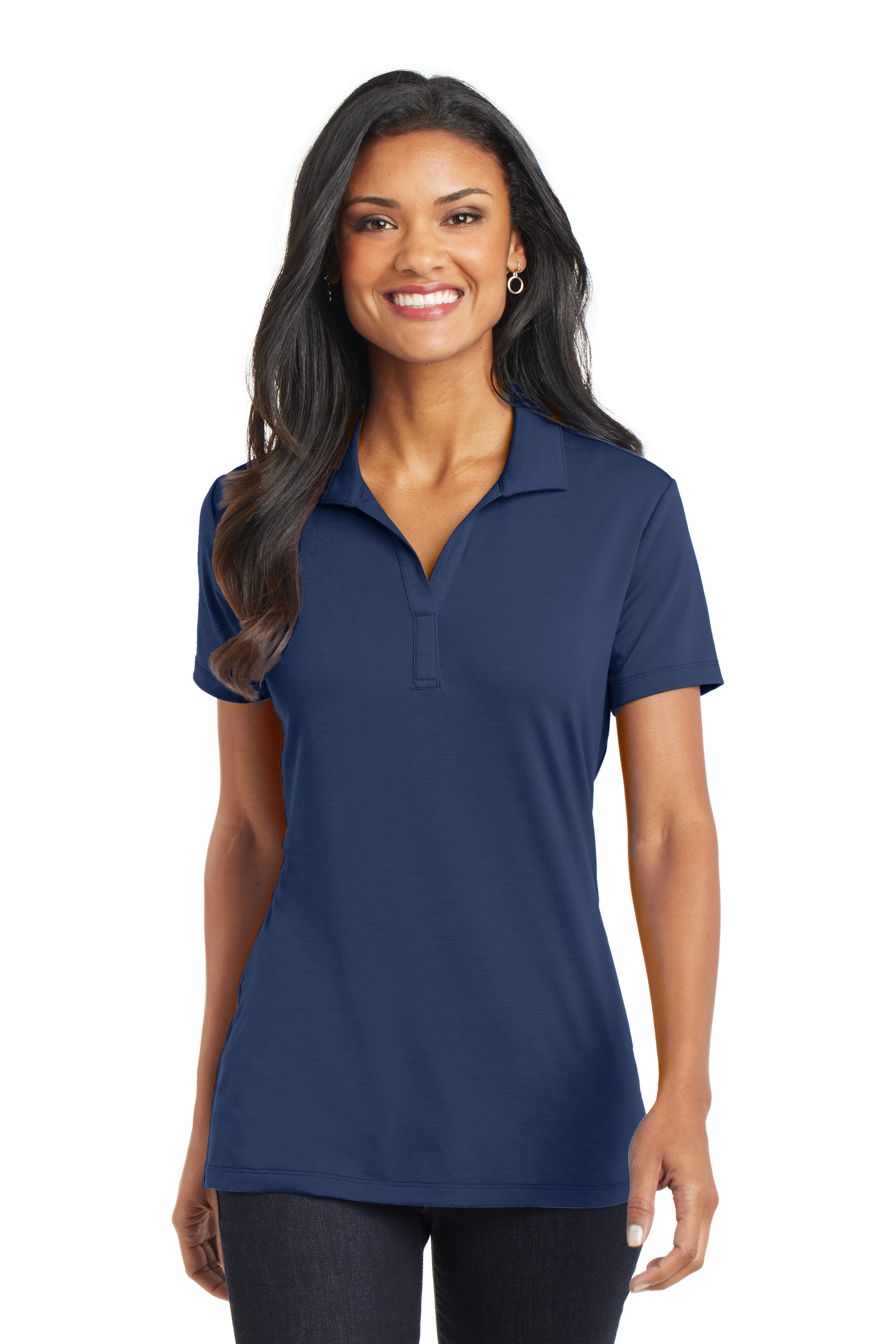 Port Authority Embroidered Women's Cotton Touch Performance Polo