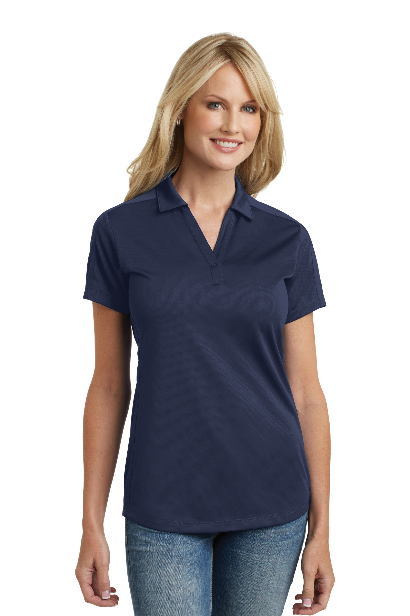 Port Authority Embroidered Women's Diamond Jacquard Polo