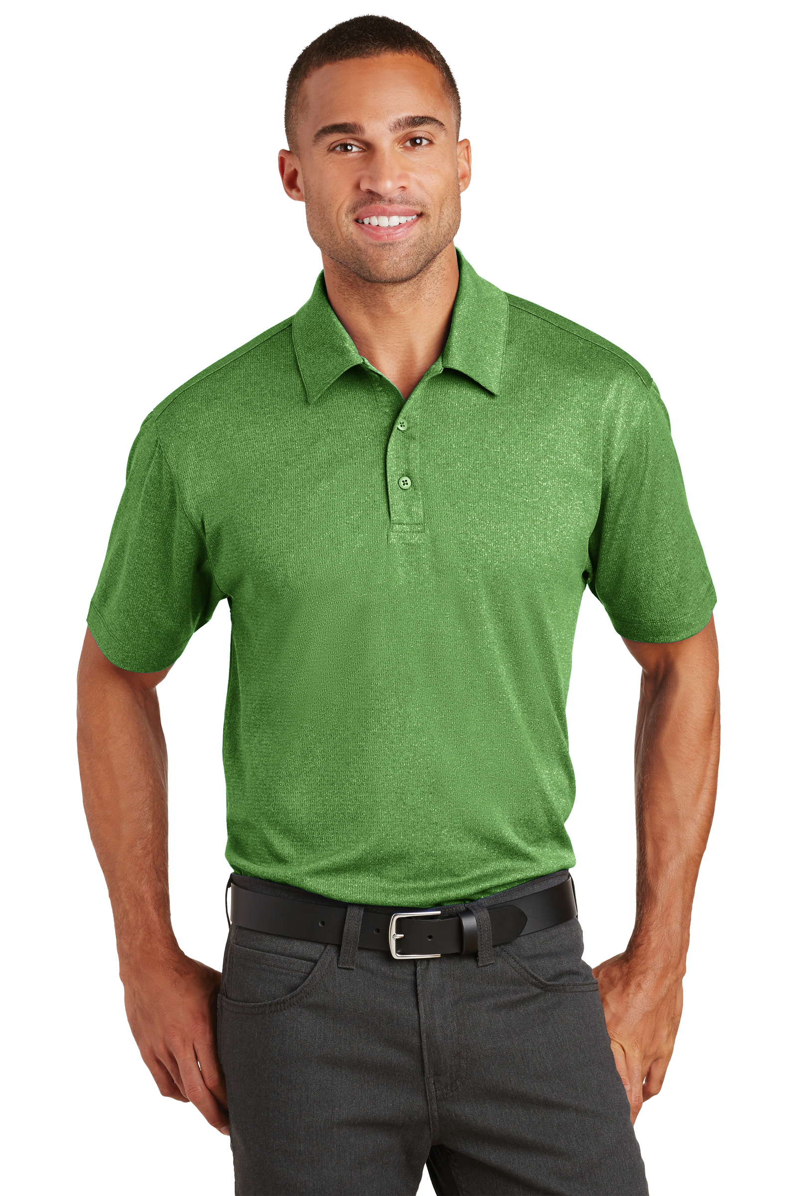Port Authority Embroidered Men's Trace Heather Polo