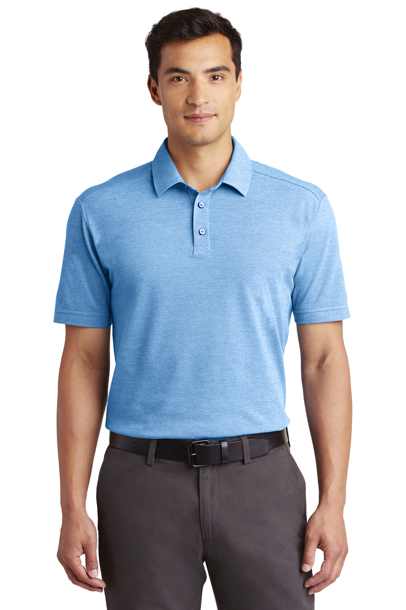 Port Authority Embroidered Men's Coastal Cotton Blend Polo