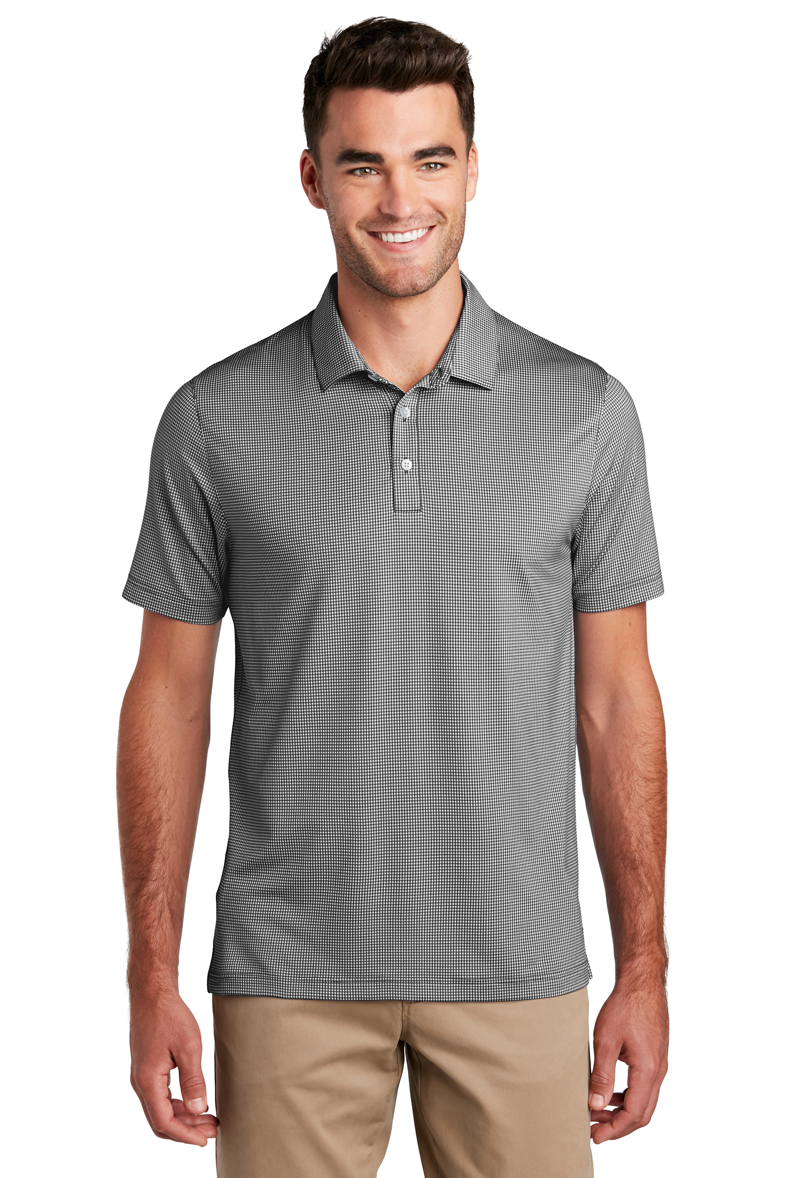 Port Authority Embroidered Men's Gingham Polo