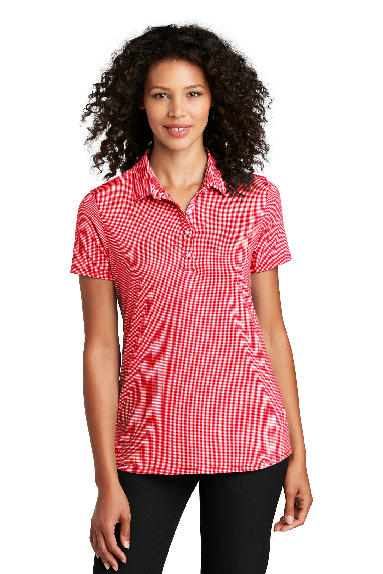 Port Authority Embroidered Women's Gingham Polo