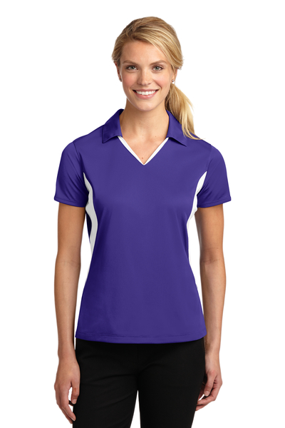 Sport-Tek Embroidered Women's Side Blocked Micropique Sport-Wick Polo
