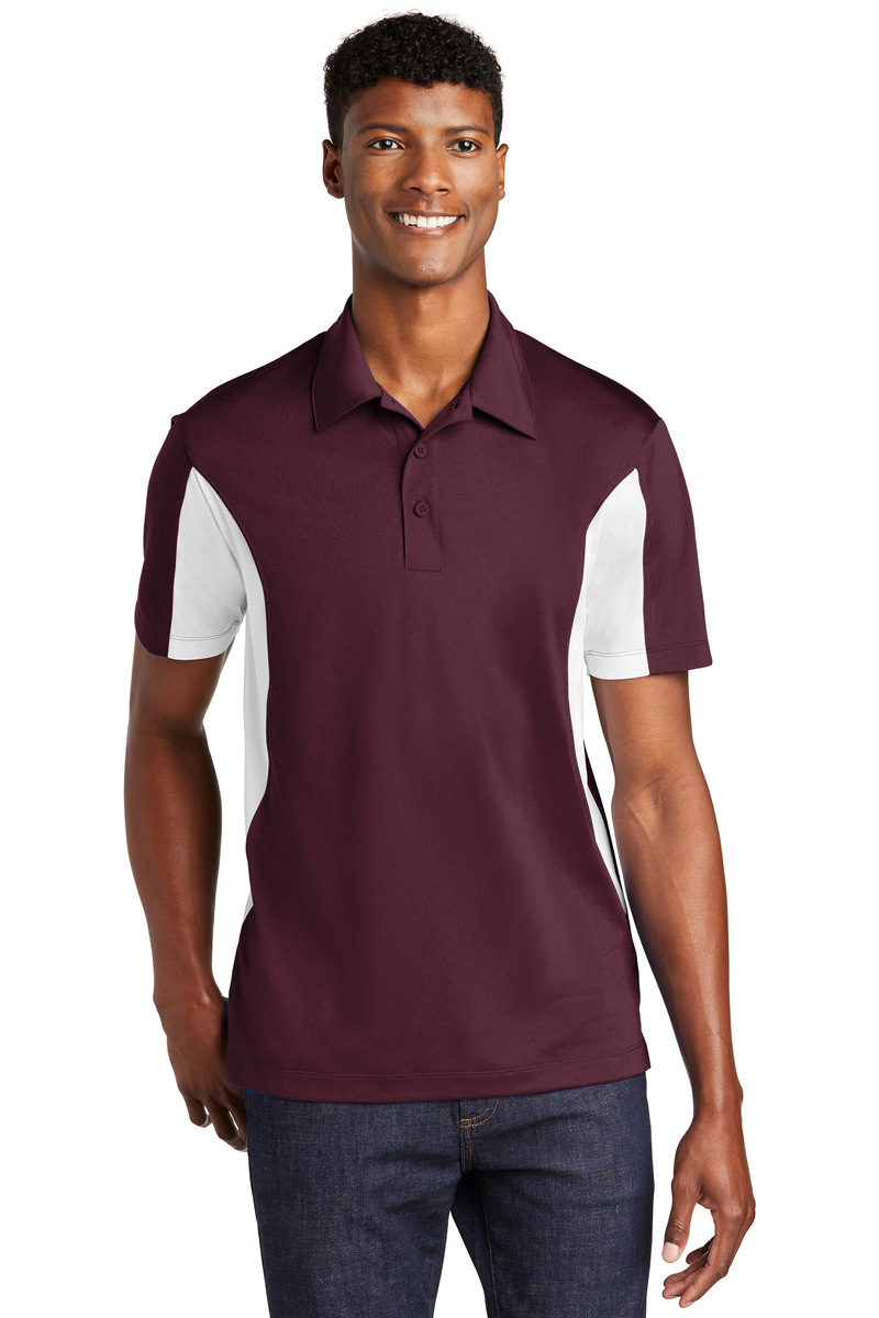 Sport-Tek Embroidered Men's Side Blocked Micropique Sport-Wick Polo