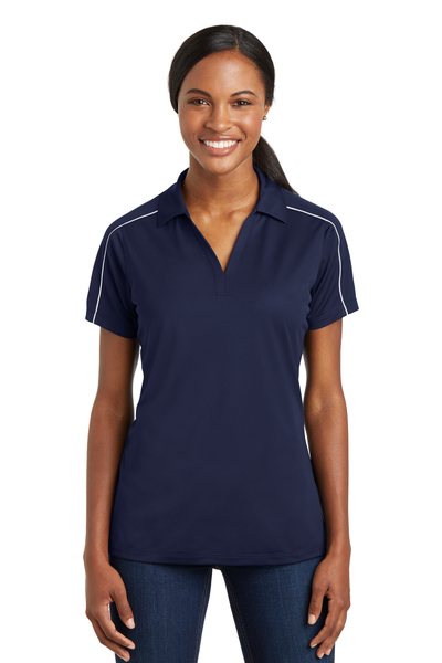 Sport-Tek Embroidered Women's Micropique Sport-Wick Piped Polo