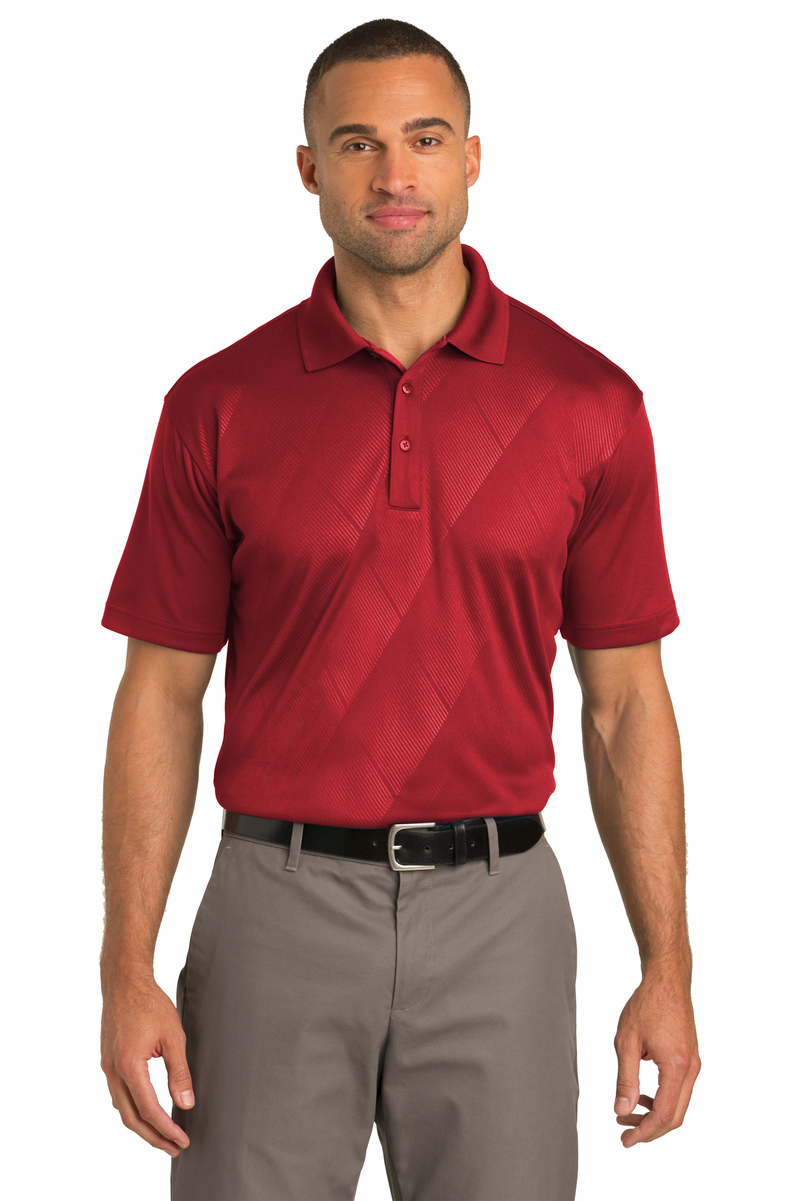 Port Authority Embroidered Men's Tech Embossed Polo