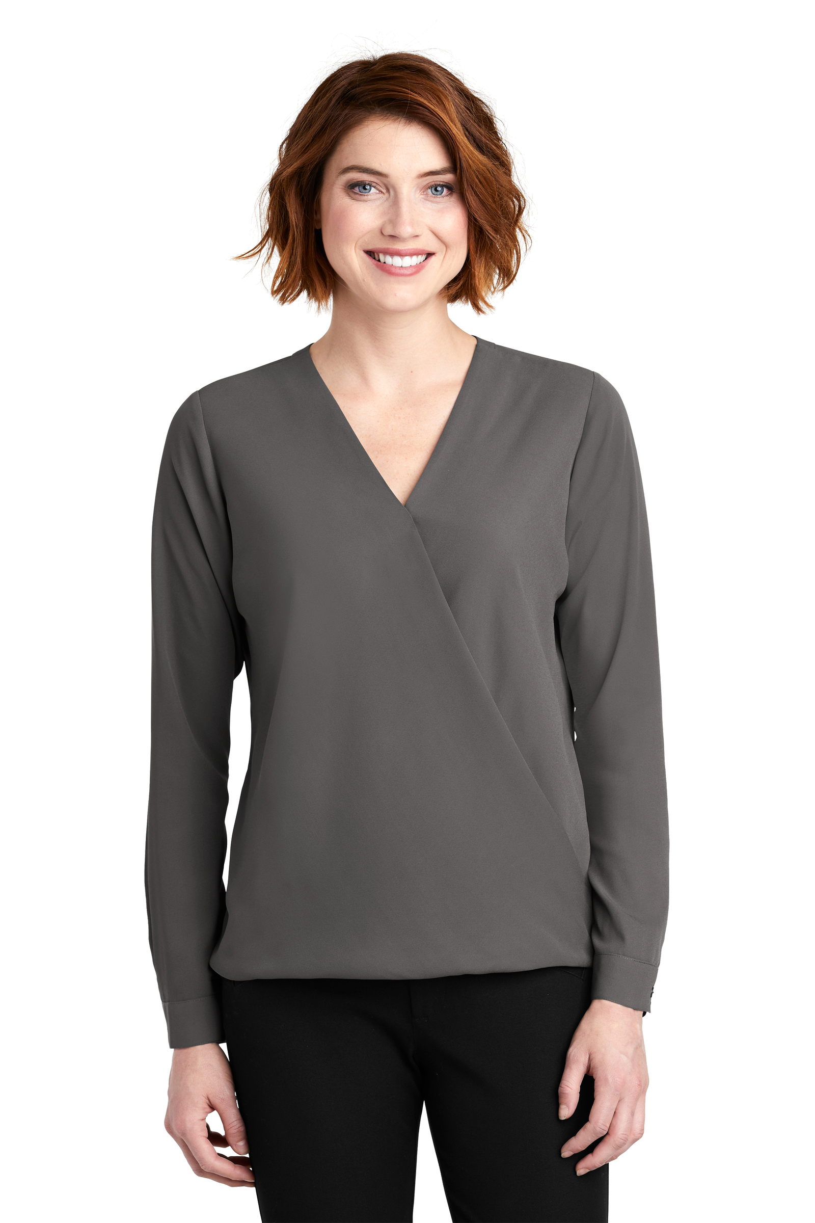 Port Authority Embroidered Women's Wrap Blouse