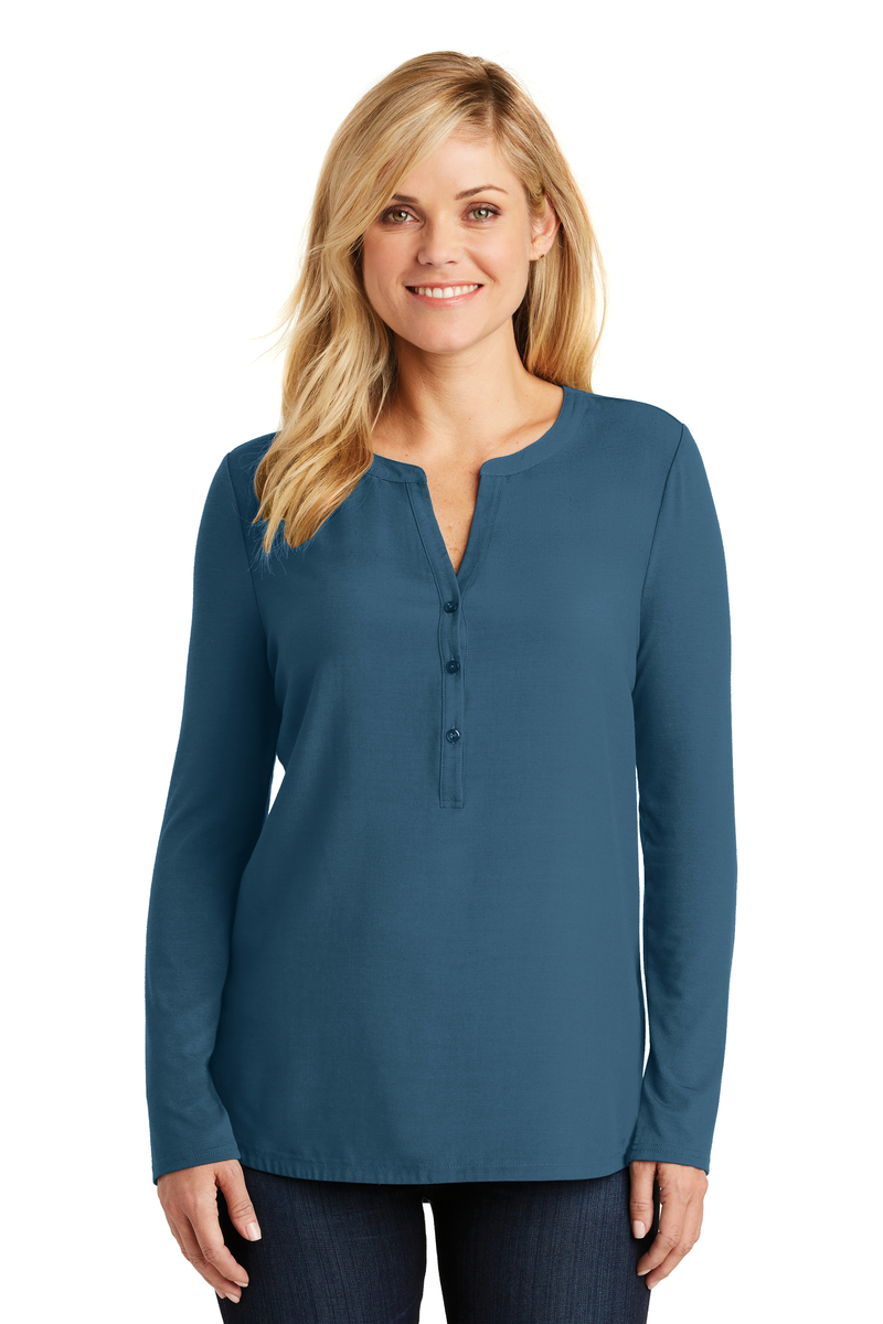 Port Authority Embroidered Women's Concept Henley Tunic