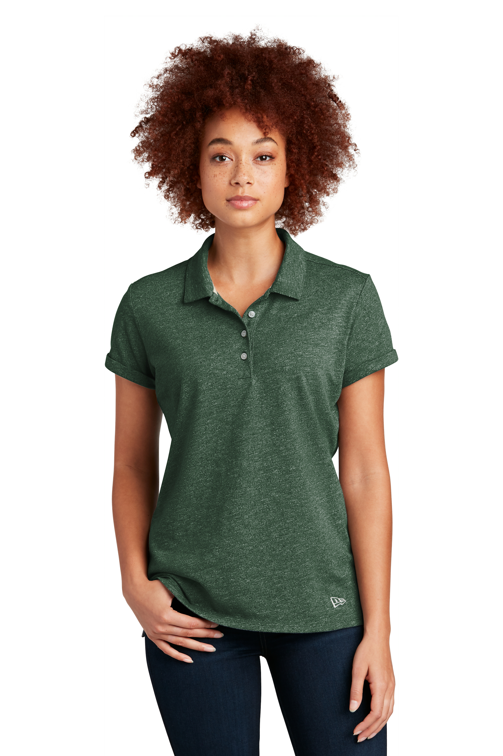 New Era Embroidered Women's Slub Twist Polo