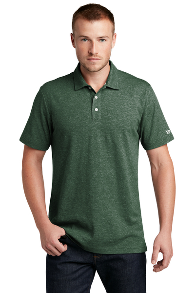 New Era Embroidered Men's Slub Twist Polo
