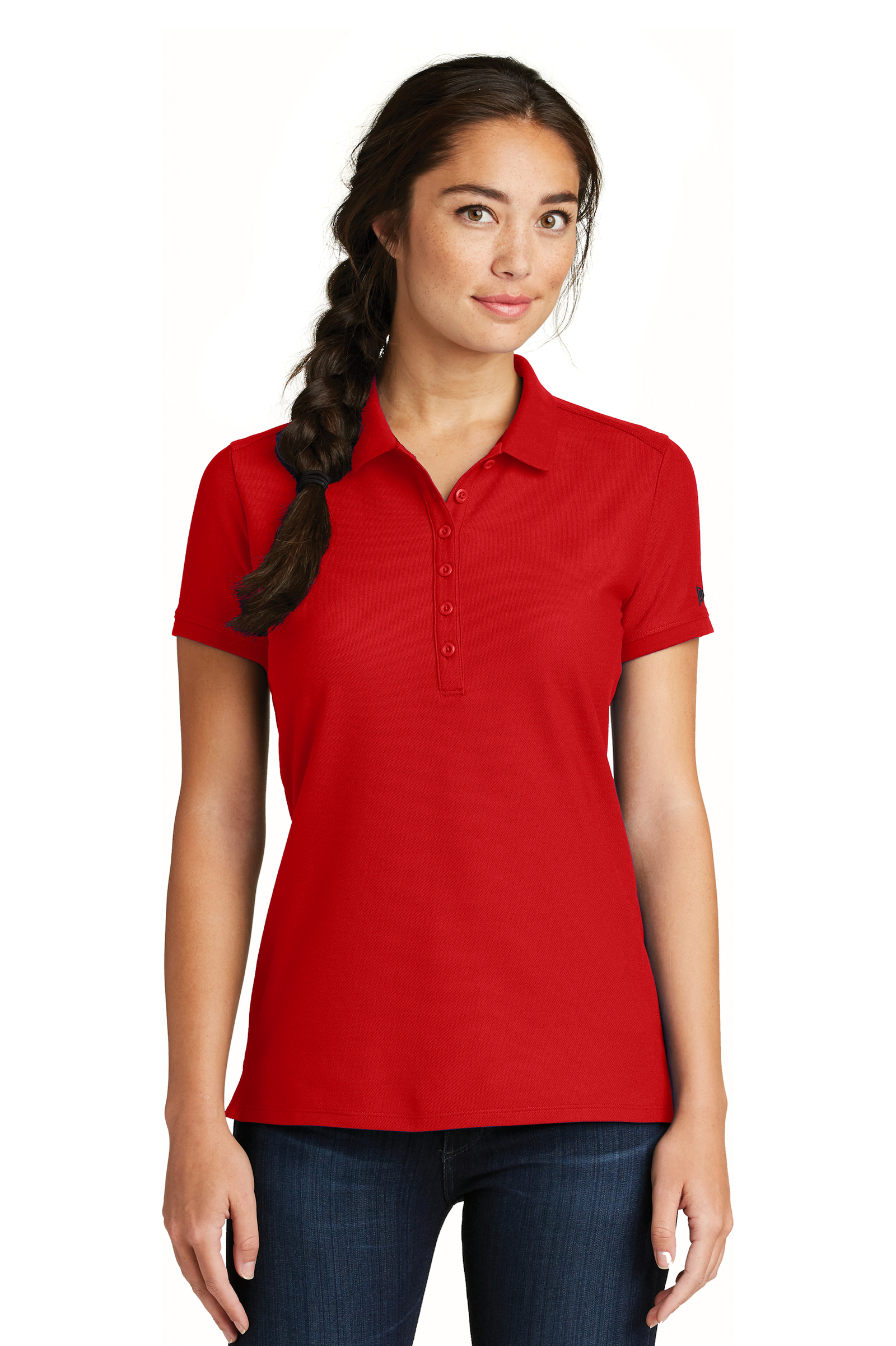 New Era Embroidered Women's Venue Home Plate Polo