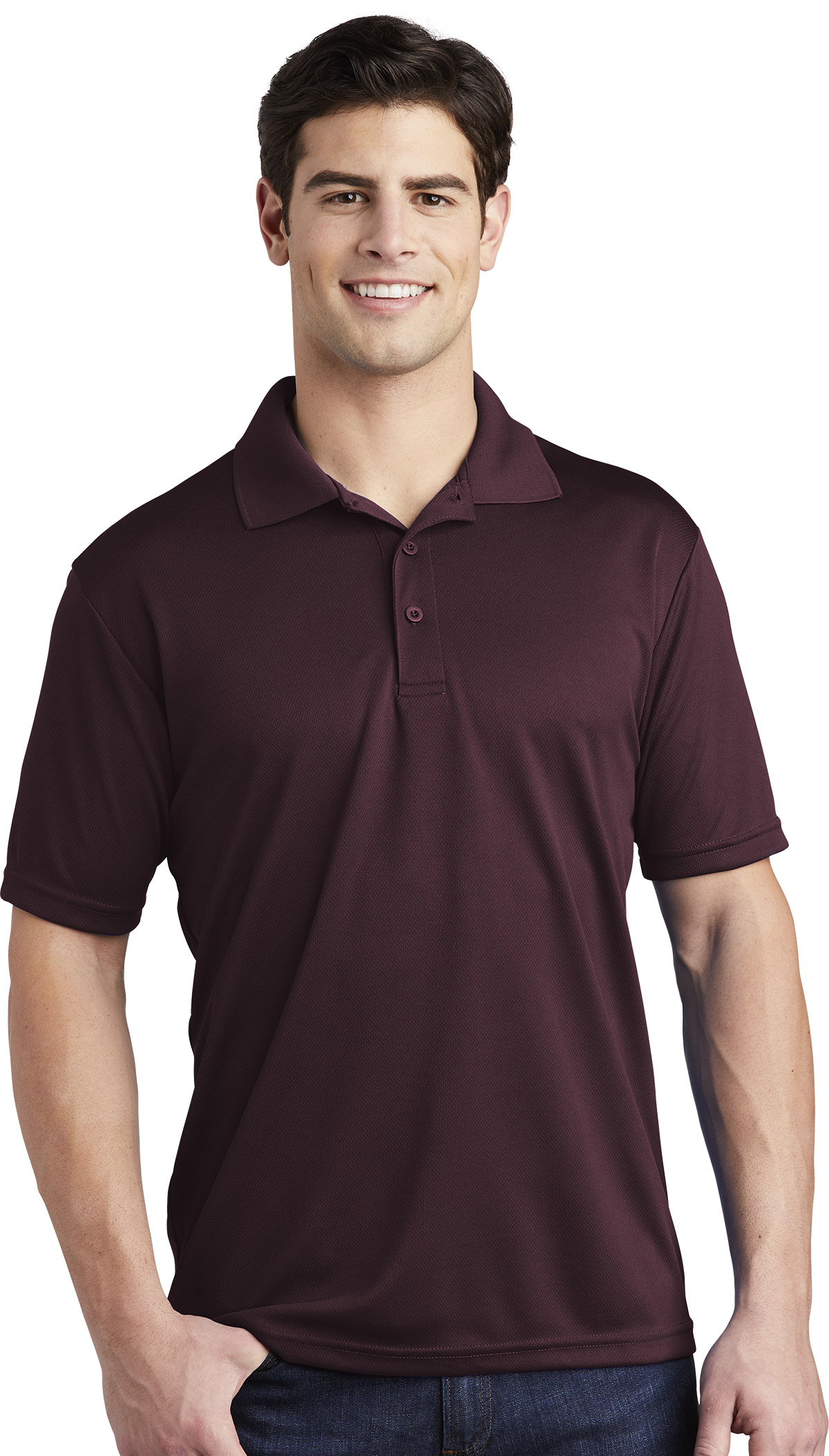 Queensboro Printed Men's AP3 All-Purpose Performance Polo