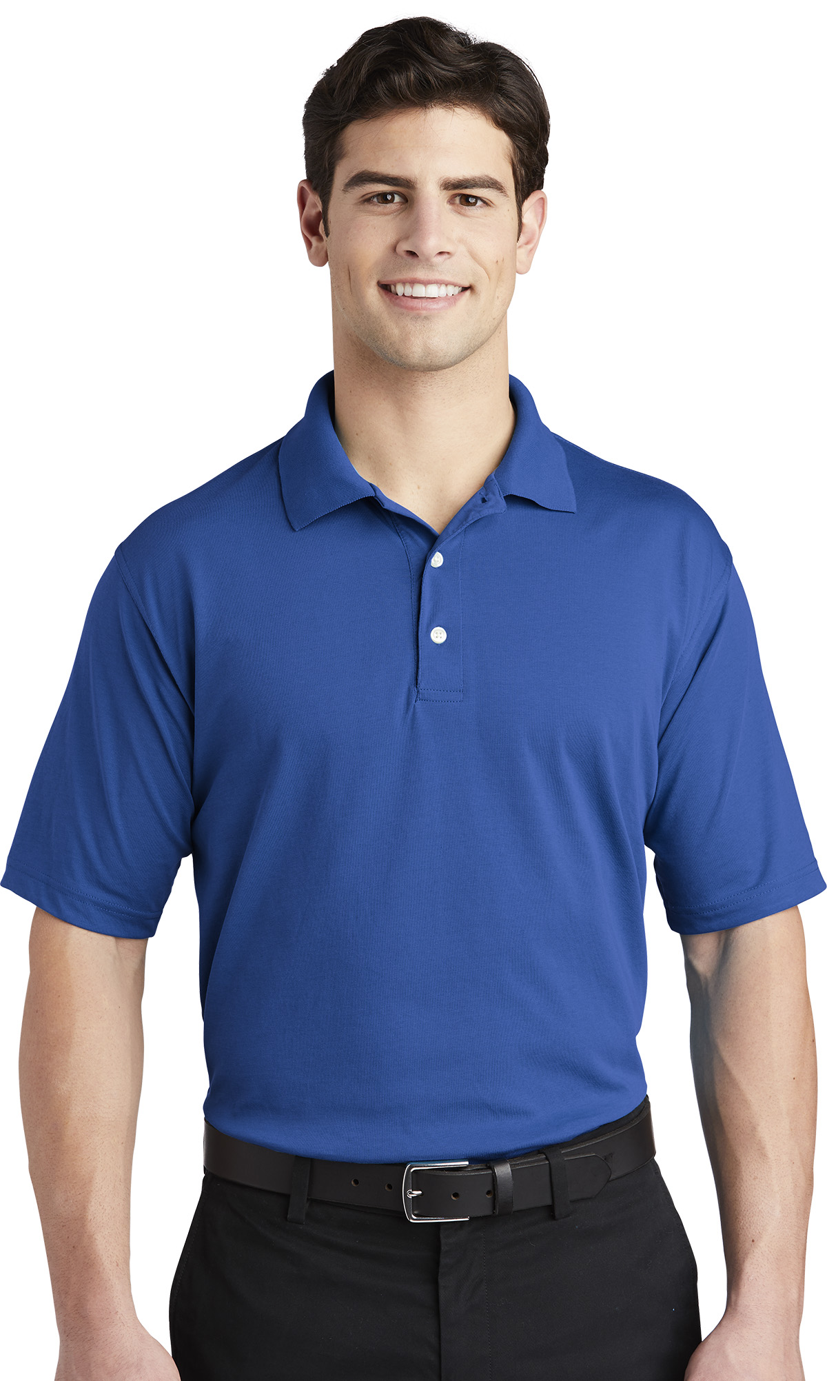 Queensboro Embroidered Men's Silk Touch Pique Polo