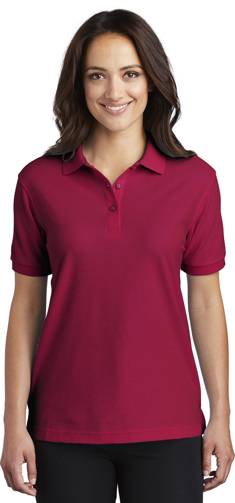 Queensboro Embroidered Women's Silk Touch Pique Polo